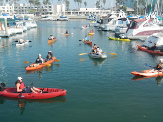 strictly sail long beach family kayaking