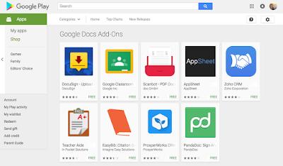 جوجل تطلق إضافات تطبيقات المستندات وجداول البيانات لنظام أندرويد