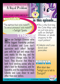 My Little Pony A Royal Problem Series 5 Trading Card