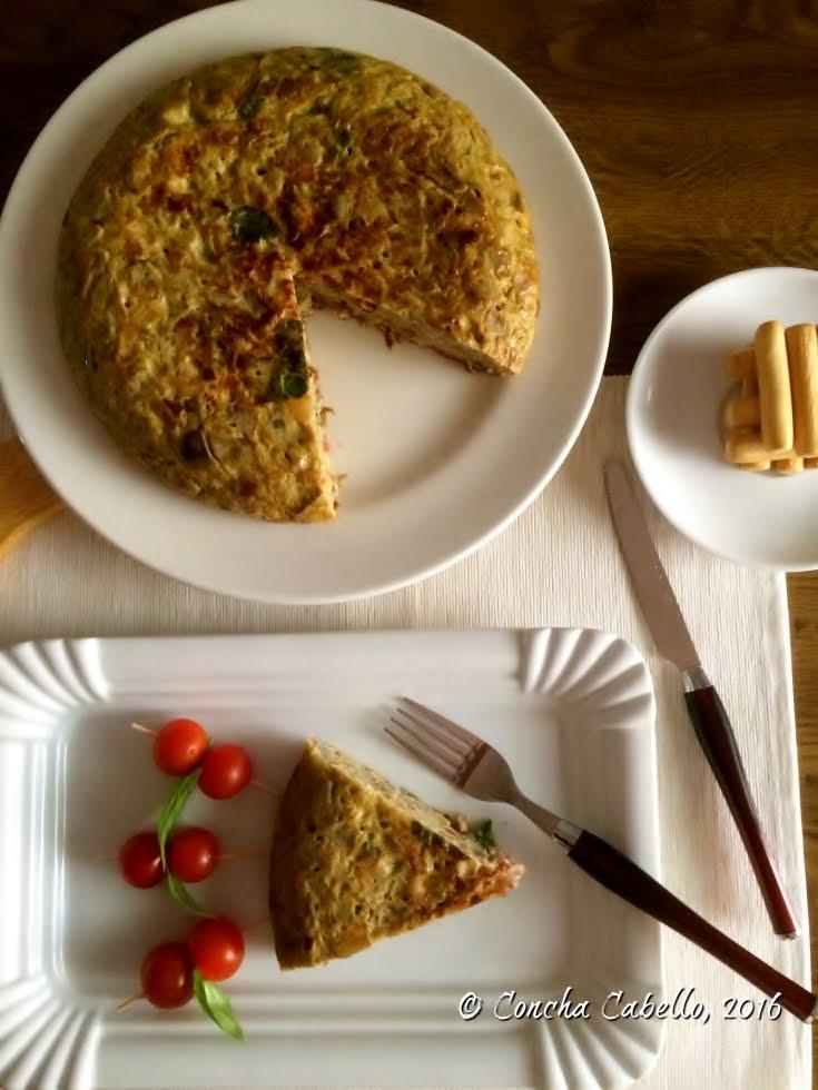 tortilla-berenjena-blanca-bacon-tomatessecados