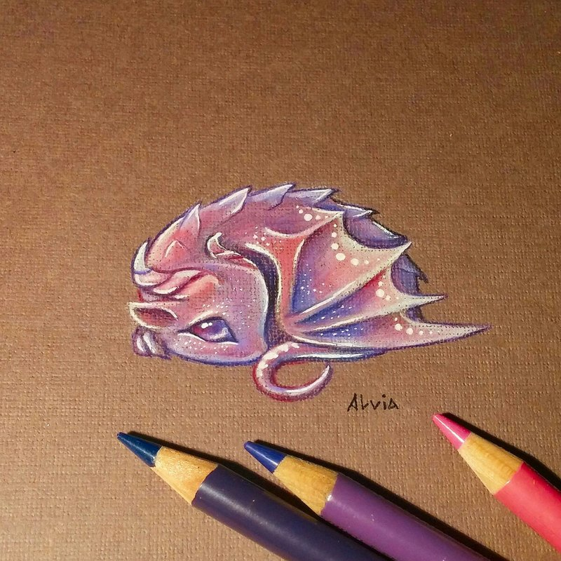 07-Little-Dragon-Alvia-Alcedo-Dragons-and-other-Mythical-Magical-Creatures-in-Fantasy-Drawings-www-designstack-co
