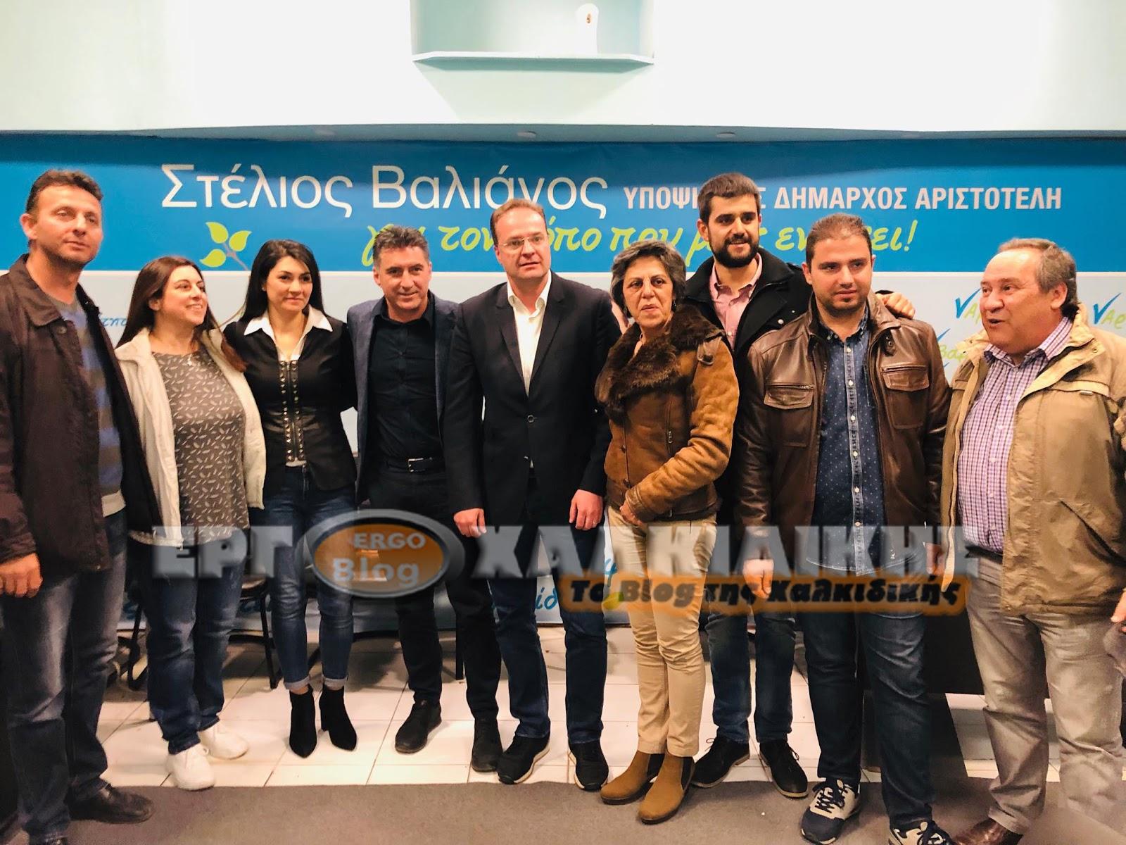 Ο Υποψήφιος Ευρωβουλευτής Θοδωρής Ζαγοράκης στο εκλογικό κέντρο του Στέλιου Βαλιάνου στην Αρναία(φωτο)