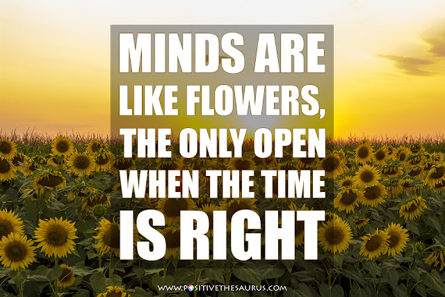 stephen richards positive words minds are like flowers