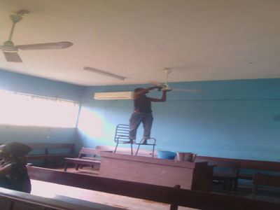 man clean court room fans ebute meta lagos