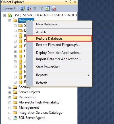 Setup AdventureWorks Database in Microsoft SQL Server 2014 ~ IT