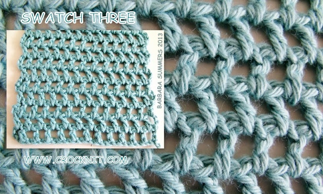 how to crochet, free crochet patterns, offset filet, swatch three, market bags, sling bags, water bottle bags,