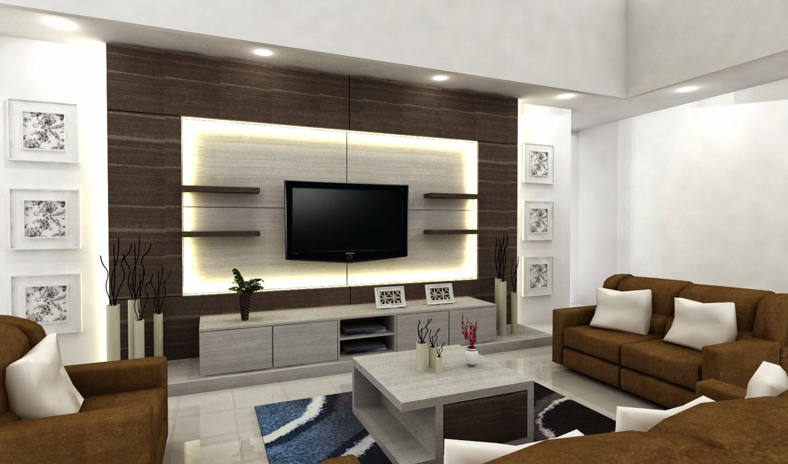 Myhome Interior: Design TV Set & Ruang Keluarga