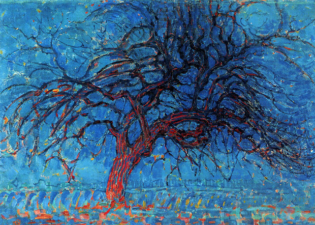Surreal Art Piet Mondrian' Abstract Trees Painting