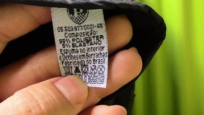 Imagem da etiqueta interna das Luvas impermeáveis Protector