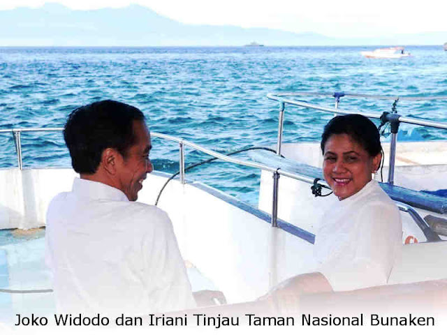 Joko Widodo dan Iriani Tinjau Taman Nasional Bunaken