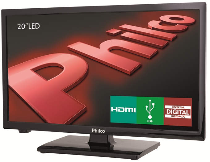 TV LED 20 Polegadas Philco HD HDMI USB