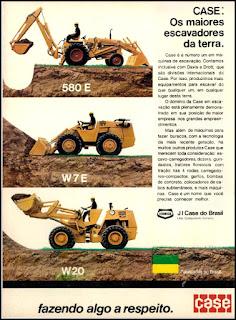 propaganda escavadores Case - 1975, J I Case do Brasil anos 70, Tenneco década de 70, escavadores, Oswaldo Hernandez,