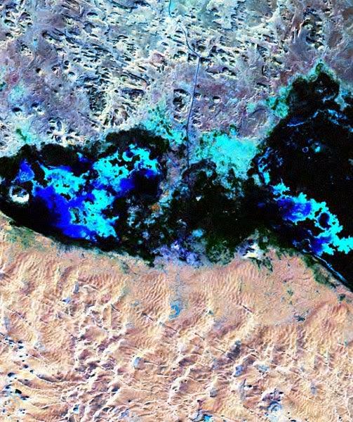 Foto Satélite NASA LANDSAT Oasis de Siwa