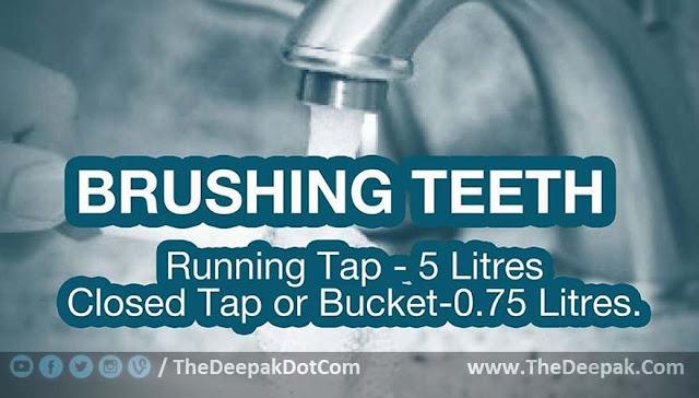 Water Saving Suggestion - While Teeth Bushing