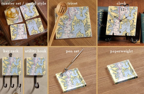 Nautical Chart Decor