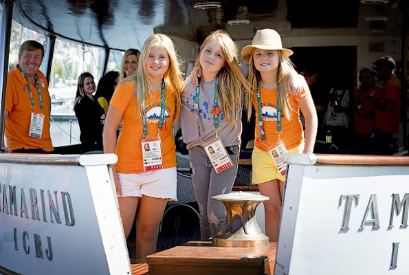 King Willem-Alexander, Queen Maxima, Crown Princess Catharina-Amalia, Princess Alexia and Princess Ariana  in Rio de Janeiro for Olympic Games.