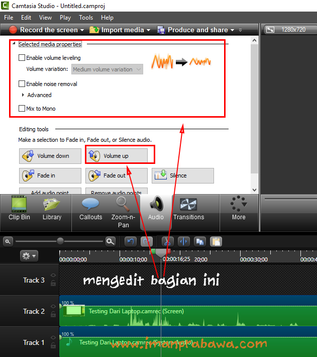 Edit Audio di Camtasia