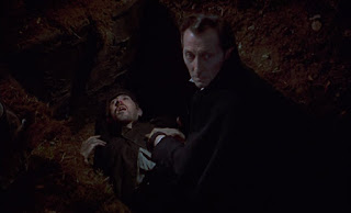 Peter Cushing in The Revenge of Frankenstein