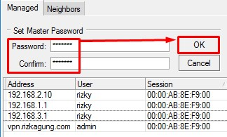 Penggunaan Master Password pada Winbox Mikrotik