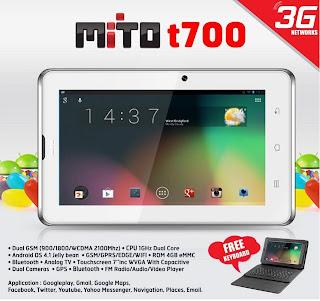 Spesifikasi dan Harga Tablet Mito T700 Terbaru 2013
