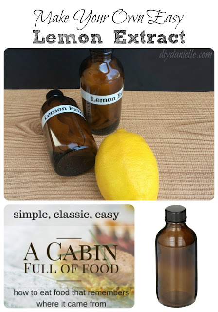Lemon extract is easy to make! Try it!