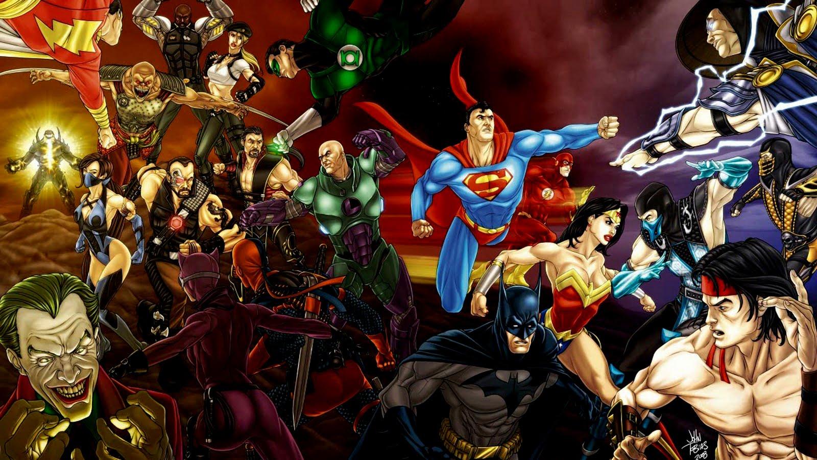 Central Wallpaper: DC Comics All Super Heroes HD Wallpapers