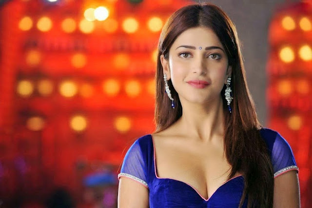 Shruti Haasan Latest Hot Navel And Milky Cleavage Show -7183