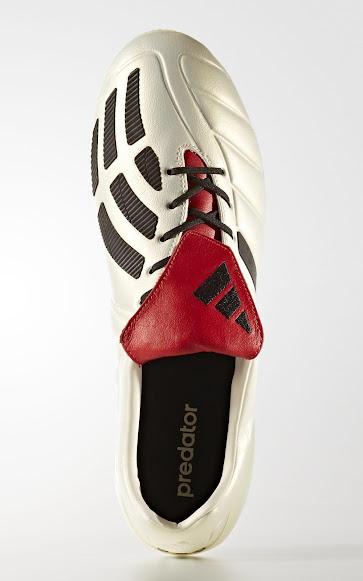 best service d7e68 9b353 Eine traditionelle, überstehende Zunge, Rot mit einem schwarzen Adidas-Logo,  rundet den klassischen Look der 2017 Adidas Predator Mania Champagne Schuhe  ab.