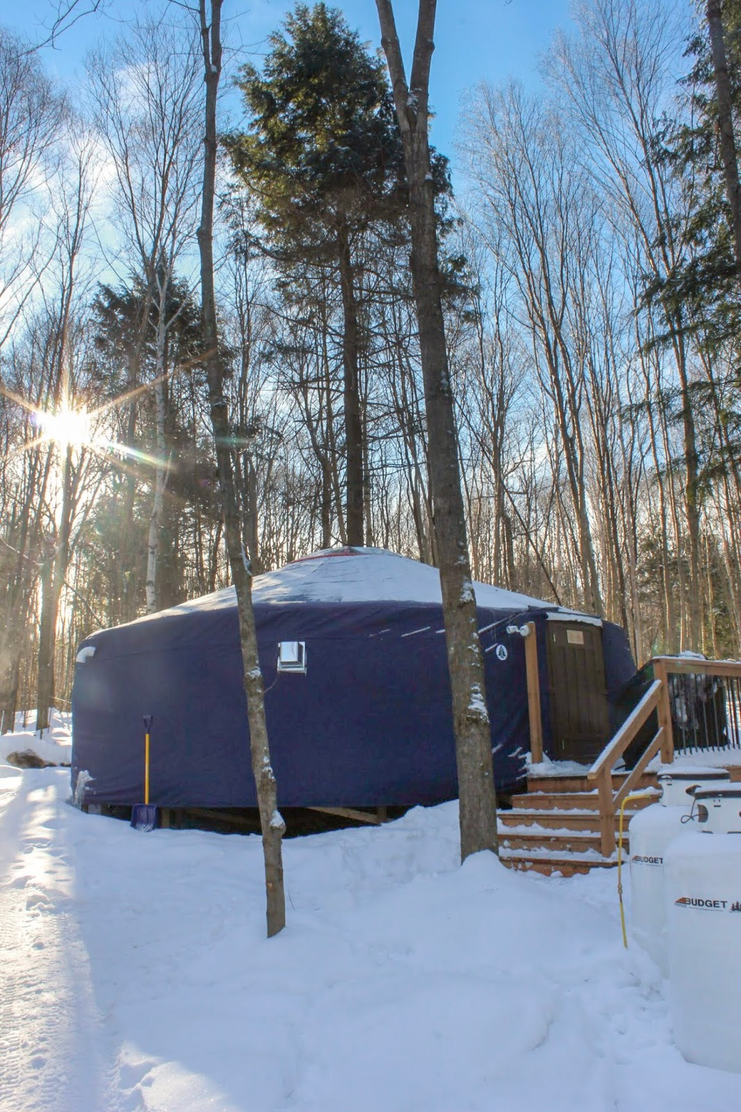Recharging at the Woods Parka Lodge