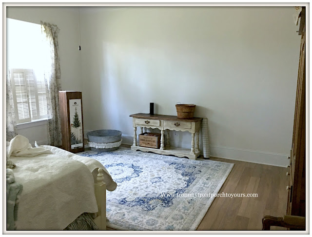 master bedroom makeover farmhouse bedroom-Sherwin Williams-Pearly White-from my front porch to yours