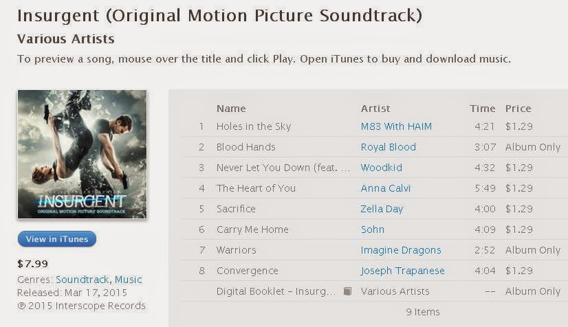 Nina's World: Listening to Insurgent (Original Motion Picture