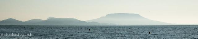 Párában úszó a hegyek a Balaton partján