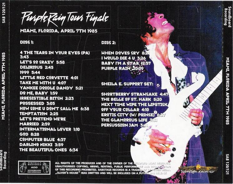 T U B E : Prince - 1985-04-07 - Miami, FL (SBD/FLAC)