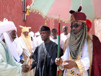 VP YEMI OSINBAJO IN CLOSED DOOR MEETING WITH EMIR SANUSI IN KANO