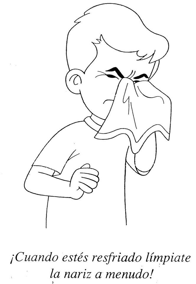 límpiate la nariz