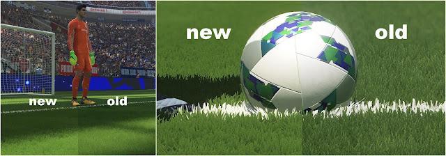 PES 2018 Real 3D Grass Mod dari Azzuryo