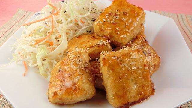 ごはんがすすむ甘辛豆腐ステーキ