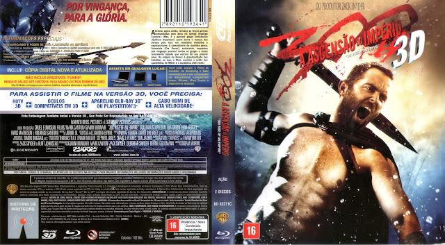 Capa Blu-ray 300 A Ascensão do Império 3D