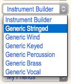 Root menu accessing generic, configurable instrument models