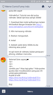 item menu ditampilkan