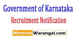 Deputy Commissioner's Office Government of Karnataka Recruitment Notification 2017
