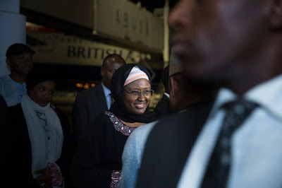 3 - Mrs Aisha Buhari returns from the UK after visit with husband, relays the president's message to Nigerians (photos)