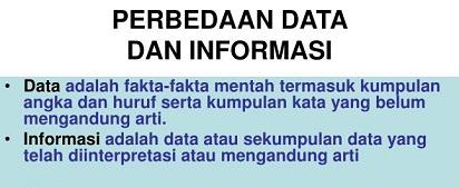 Inilah Perbedaan Data dan Informasi yang Wajib untuk Anda Ketahui