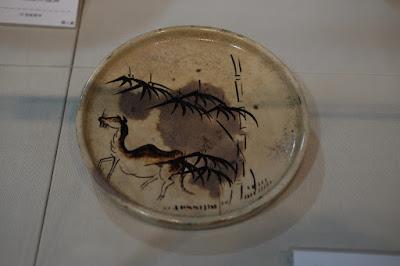 愛知県瀬戸市のやきもの博物館 瀬戸蔵ミュージアム 竹に駱駝絵行燈皿