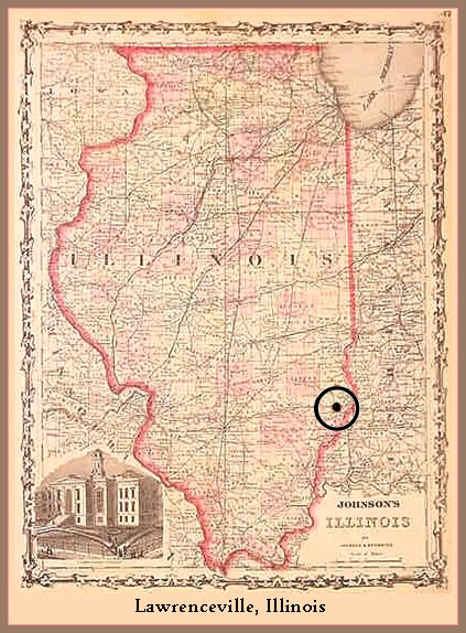 Map Lawrenceville Indiana