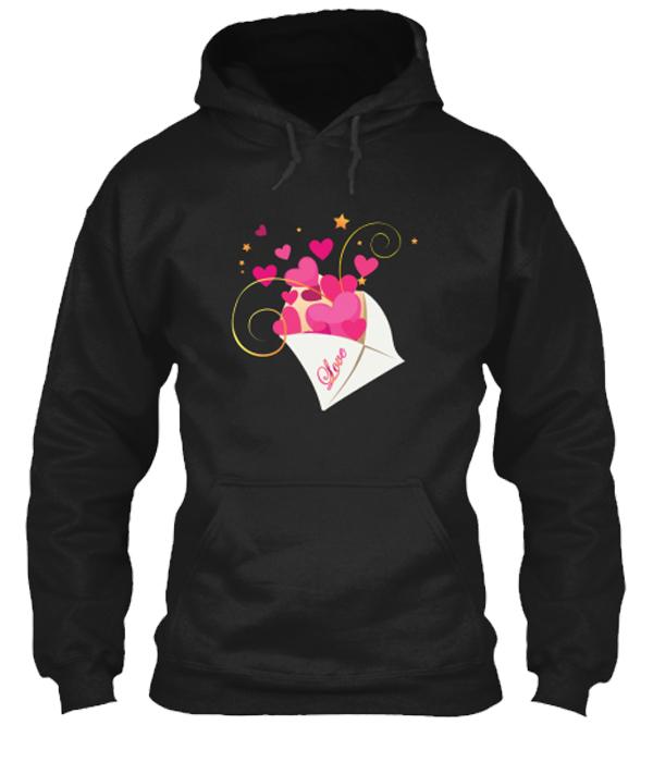 Valentine Special Love message Hoodie