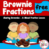 Freebie! Brownie Fractions Lesson