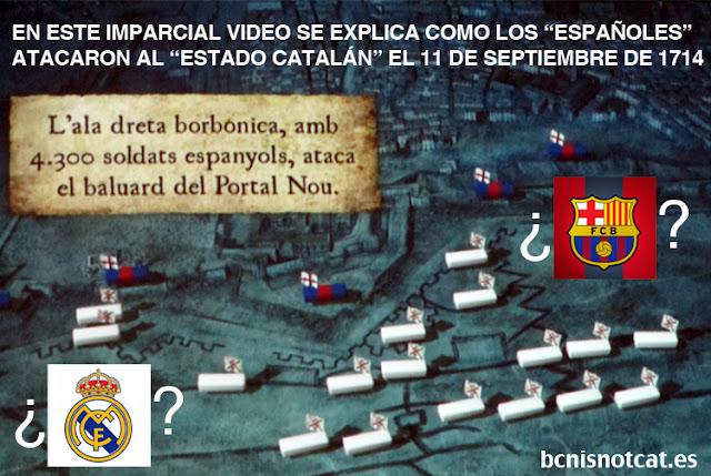 Video con manipulación subliminal independentista explicando el sitio de Barcelona el 11 de septiembre de 1714