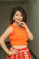 Shubhangi Bant in Orange Lehenga Choli Stunning Beauty ~  Exclusive Celebrities Galleries 044.JPG