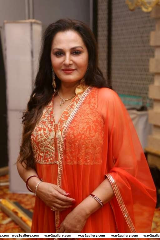 Producer Jaya Prada arrives for the press meet of Tamil film Uyire Uyire